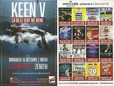 FLYER PLV - KEEN'V EN CONCERT LIVE 2016 ZENITH AUVERGNE CLERMONT FERRAND