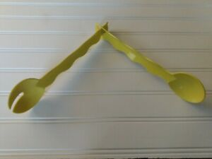 NEW Tupperware Yellow Snap-Together Fork Spoon Salad Utensils