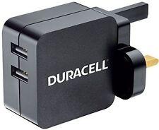 DURACELL 4.8 un caricatore rete dual USB per Smartphone e Tablet con MICRO USB