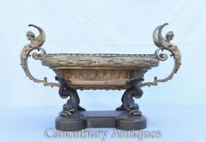 Antique French Empire Bowl Tureen - Sea Serpents 1880s