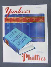 1950 WORLD SERIES PROGRAM - Phillies vs.Yankees (Reprint) Opie LTD.