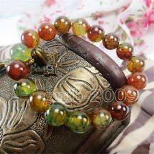 GREEN dragon JADE STONE 10mm BEADS Bracelet FIT ALL,Man Woman,Lucky Stone