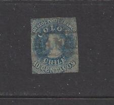 CHILE  - 12a - USED - 1862 - CHRISTOPHER COLUMBUS