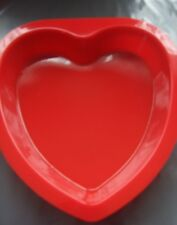 "Silicone Cake Mould 8"" (20 cm) Red Love Heart Mould"