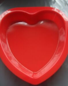 """Silicone Cake Mould 8"""" (20 cm) Red Love Heart Mould"""