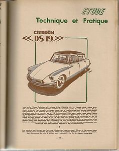REVUE TECHNIQUE AUTOMOBILE 133 RTA 1957 CITROEN DS19 DS 19 (1/3) L'HYDRAULIQUE