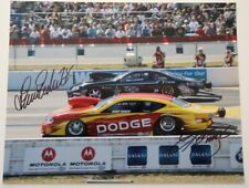 2011 ERICA ENDERS vs KURT BUSCH signed Pro Stock Gainesville NHRA 11x14 Photo