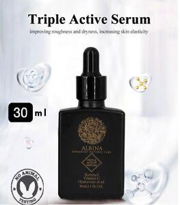 ALBINA Triple Active Retinol Vitamin C Serum Hyaluronic Acid Anti Aging