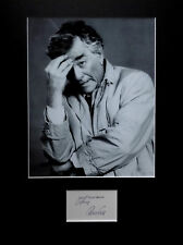 PETER FALK Columbo signed autograph PHOTO DISPLAY