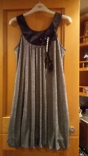 ladies silver and black puff ball dress size s/m