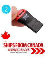 2Pcs USB 2.0 Micro SD SDHC TF Flash Memory Card Reader Mini Adapter Laptop PC