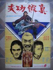 "INSTANT KUNG FU MAN Original China Karate Movie Poster Cinema 21x31"" Film 70s"