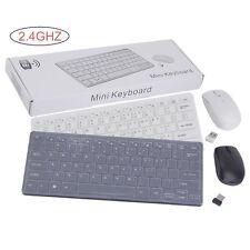 2,4GHz Wireless Funk Mini Funktastatur USB Maus Tastatur Keyboard Neu DHL