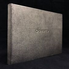 New Harrods Faux Textured Leather Bound Guest Book With Gilt Page Edging 301401