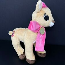 Dan Dee Clarice Plush Rudolph Reindeer Girlfriend Pink Scarf Bow 50 Year Patch