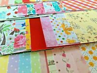 50 x A6 Sheets Paper Card Patterned Glitter Scrapbook Craft Card Making Journal