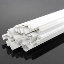 US Stock 20pcs 2 x 2 x 250mm ABS Styrene Plastic L Shape Right Angle Bars White