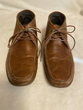 ALDO 3-Eye Brown Leather Men's Ankle Chukka Boots Size 9