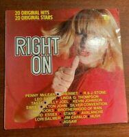 "RIGHT ON - '20 Original Hits 20 Original Stars' 12"" Vinyl LP Record"