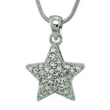 "Star W Swarovski Crystal Celestial Symbol Charm Chain Pendant Necklace 18"" Chain"