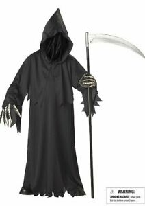 California Costumes Collections Grim Reaper Deluxe Scary Kids Ghost Costume