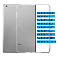 "Slim Soft TPU Transparent Clear Cover Case For iPad mini/Air/Pro 9.7""10.2""10.5"""