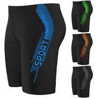 Men's High Waist Swim Boxer Trunks Briefs Long Shorts Jammers Swimwear Underwear