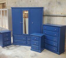 HANDMADE AYELSBURY BLUE BEDROOM SET NO FLAT PACKS