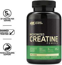 Optimum Nutrition Micronized Creatine Monohydrate Powder, 30 Servings