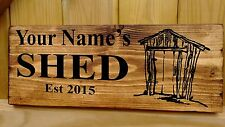 PERSONALISED NAME MAN CAVE Shed Garage Workshop Door Sign Plaque Wood Plate Gift