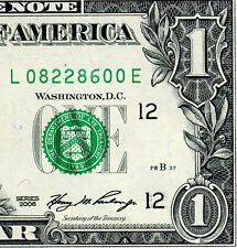 2006 $1 FRN (( Birthday Note )) August 22, 1986 Uncirculated # L08228600A