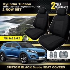 Custom Seat Covers Hyundai Tucson Wagon 2ROWS TL TLE ACTIVE X 06/2015-2017 BLACK
