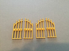 LEGO Gold Iron Gate - Lot of 2 - Cemetery Castle Gates  - Multiple Lots Avail.