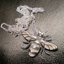 The PROPER Manchester Bee! SILVER PENDANT NECKLACE jewellery- made in Manchester