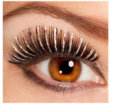 Rubie's Costume Co Sm Hologram Lashes-Blue/Silver Costume