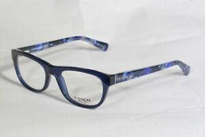 NEW AUTHENTIC COACH HC6081 5349 NAVY BLUE/ BLACK MOSAIC EYEGLASSES RX 51-18-135
