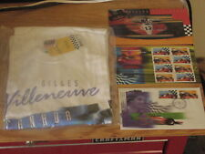 Gilles Villeneuve Official Canada Post T Shirt and First Day Cover Stamps