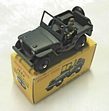 Old DINKY TOYS #80 BP Jeep Hotchkiss-Willys mit Fahrer, ca. 1/43, mb