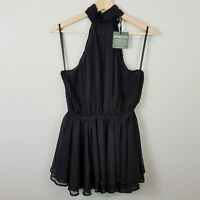 [ GEORGY ] Womens Black Ava Top NEW RRP$220 | Size AU 8 or US 4