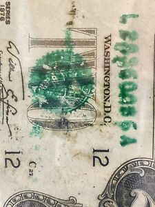 Error 1976 $2 Dollar 《wet ink smear  Mismatched SN San Francisco》Super Top Rare!