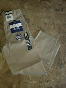 Nwt Boys Navy Khaki Flat Front Uniform Approved Schoolwear Pants Durable Knee