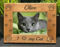 Personalized Engraved // Love my Cat // Picture Frame
