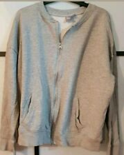 Asos Lovely Grey Long Sleeve Front Zip Jacket With Side Pocket 2p Used