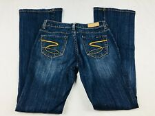 "Seven 7 Women's Jeans 25 Flare Cut Dark Wash Denim Inseam 32"" (A1"
