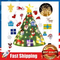 3D DIY Felt Christmas Tree Set w/ 18Pcs Hanging Ornaments,Gifts for Kids Toddler