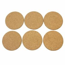 New 6pcs CORK WOOD DRINK Coaster Tea Coffee Cup Mat Pads Table Decor Tableware