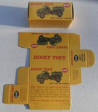 High Quality Reproduction Dinky Military Boxes - 643 Army Water Tanker