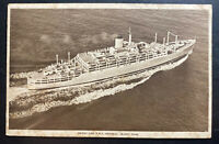 1930s Gibraltar Postcard cover RPPC To Wellington New Zealand RMS Oronsay