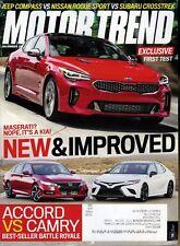 Motor Trend Magazine December 2017 Accord vs Camry Best Seller Battle Royale