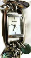FOSSIL Ladies Charm Abalone Bracelet Watch Analog Quartz WR 30m New Batt